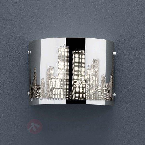 Applique SKYLINE décor laser - Appliques chromées/nickel/inox