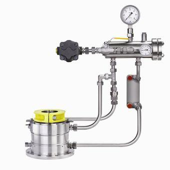 Sterile system for mechanical seals - Complete sterile system, mechanical seal & sterile installation out of one hand