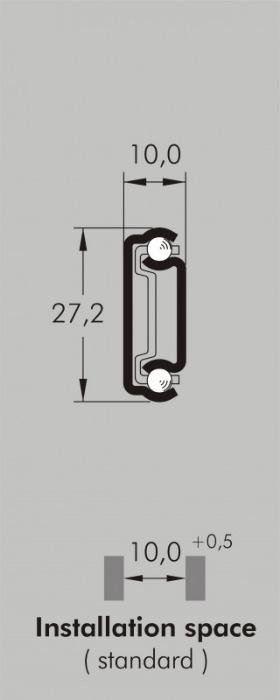 ITS 010 stainless steel slide 25 kg - 27,2 x 10 mm partial extension drawer slide stainless steel length 100 - 500 mm