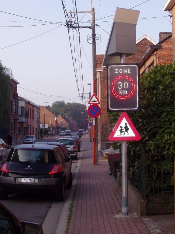 Panneaux led zone 30 -  Afficheur sécurité et prévention