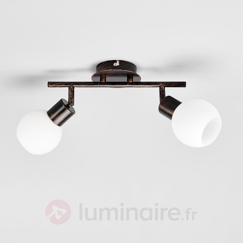 Plafonnier brun rouille Elaina à LED E14 - Plafonniers LED