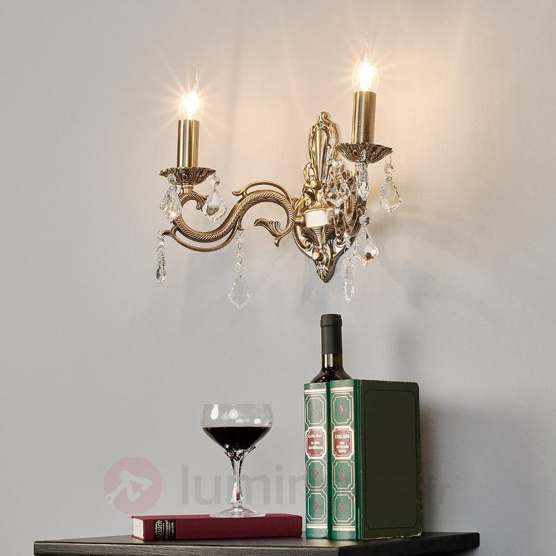 Applique Kora couleur bronze, à deux lampes - Appliques classiques, antiques