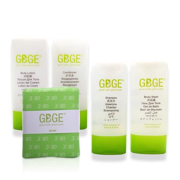 GBGE First Class Fresh Hotel Amenities Collection - rich, gentle and soft, easy absorption for moisturizing and smoothing skin