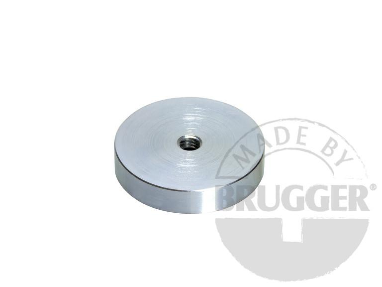Flat pot magnets NdFeB, with internal thread, galvanized - null