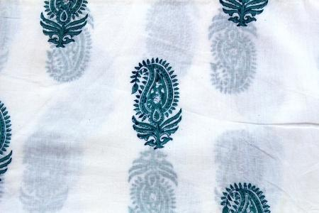 Hand Block Print Handmade Cotton Indian Natural Sanganeri Pr - Cotton Hand Block Flower Print Fabric Ethnic Indian Handmade Sanganeri