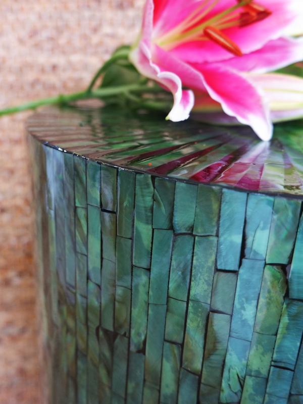 Green Column Side Table - Shop