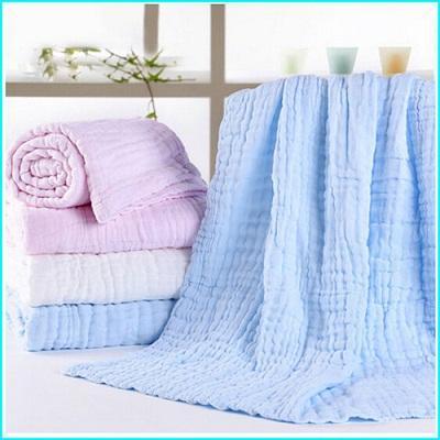 Lavage des serviettes de bébé - Gaze écrémé médical 100% coton, après décoloration, séchage haute température. A