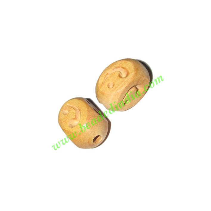 Natural Color Wooden Beads, size 12x19mm, weight approx 1.53 - Natural Color Wooden Beads, size 12x19mm, weight approx 1.53 grams