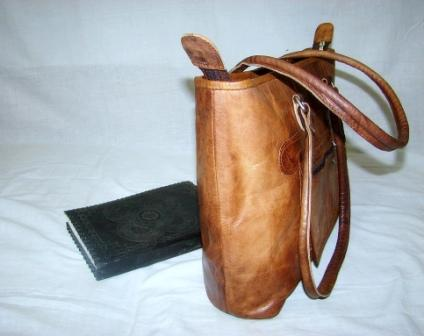 Leather Tote Bag - Leather Tote Bag for woman