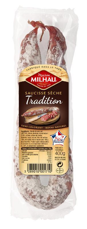 Saucisse Sèche Perche Tradition - Viande et volailles