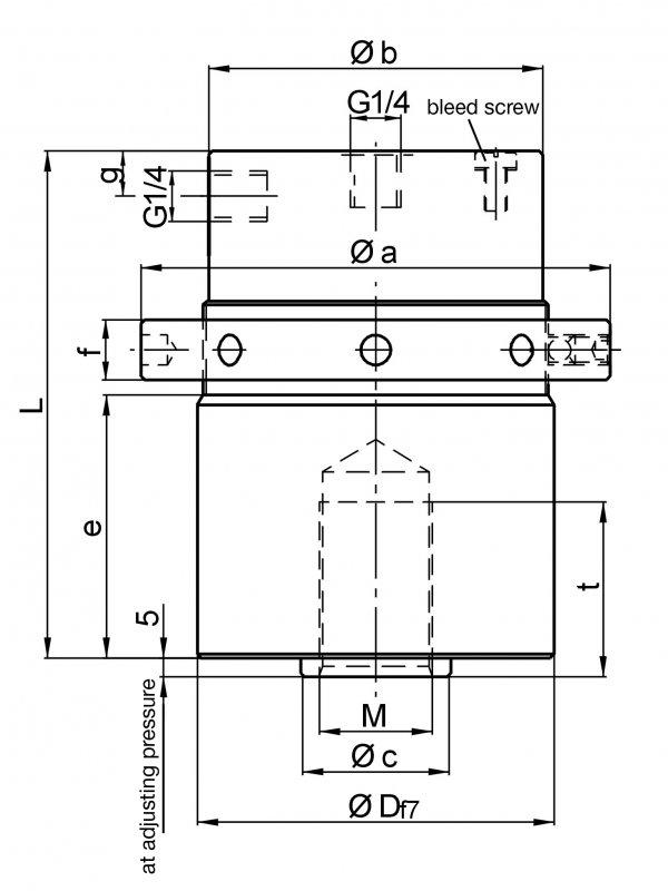 Spring clamping cylinder (pulling) ZSF - mechanical clamping – hydraulic releasing