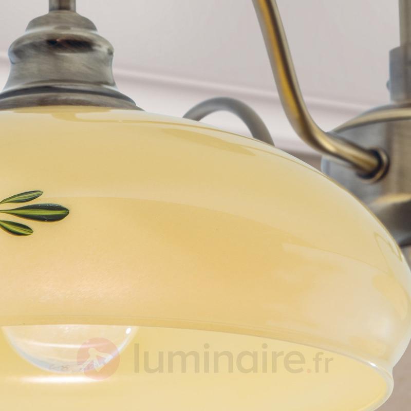 Plafonnier Brianna à trois lampes - Plafonniers rustiques