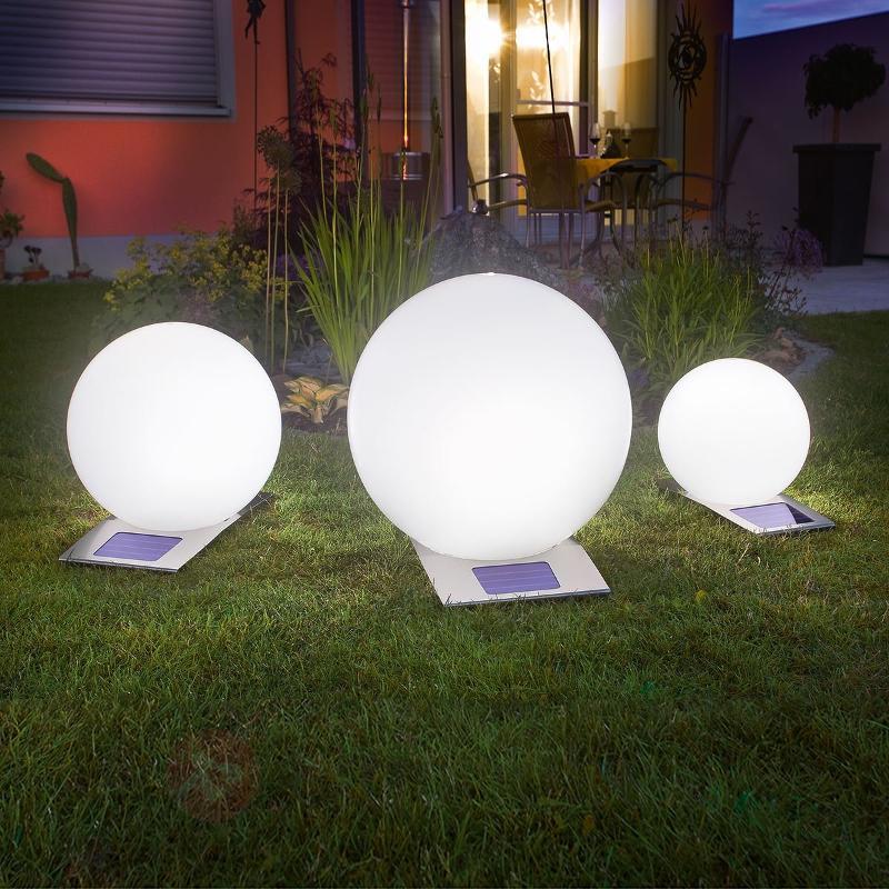 Boule lumineuse solaire Trendy,variateur 7 couleur - Lampes solaires décoratives