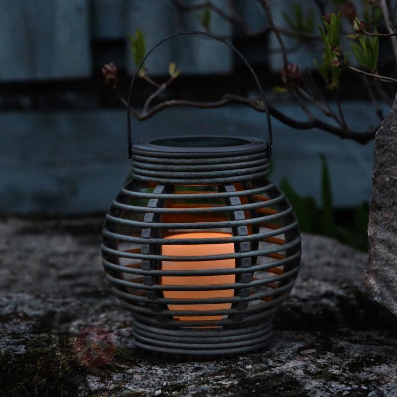 Lampe solaire Lantern en rotin avec LED - Lampes solaires décoratives
