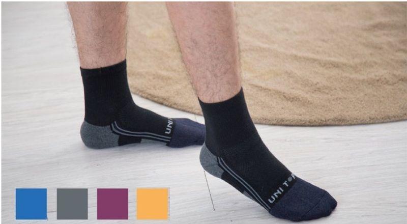 Kobberfiber bambus trækul sport sokker -
