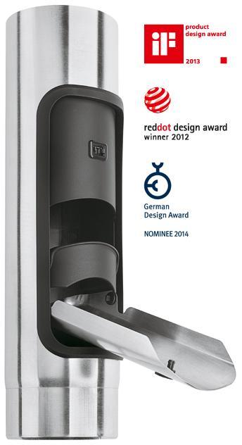Design-Regenwasserklappe mit Tipp-Verschluss - Quartz-Zinc vorbewittert - Regenwasserklappen