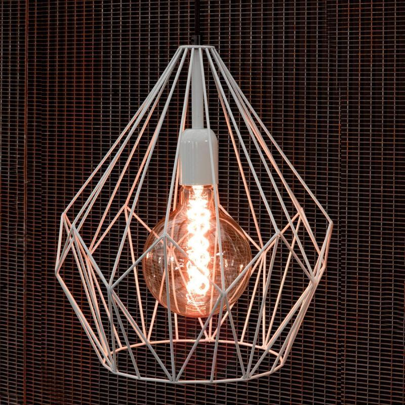 Mint-coloured vintage hanging light Carlton - indoor-lighting