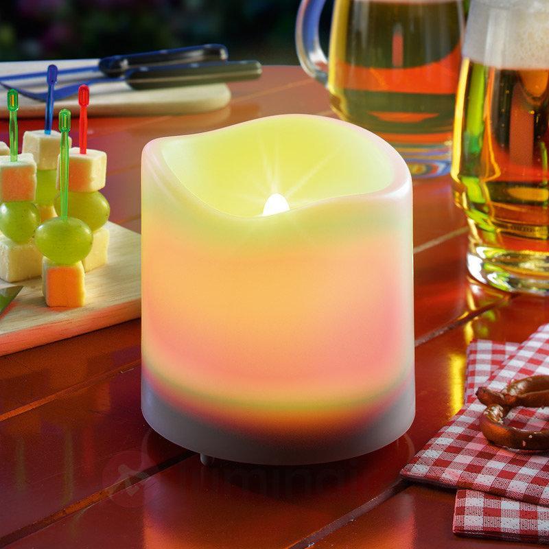 Bougie solaire LED Candle Light, blanc - Lampes solaires décoratives
