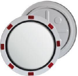 Stainless steel traffic mirror with red/white frame and  ... - SISPEXxxKRVS