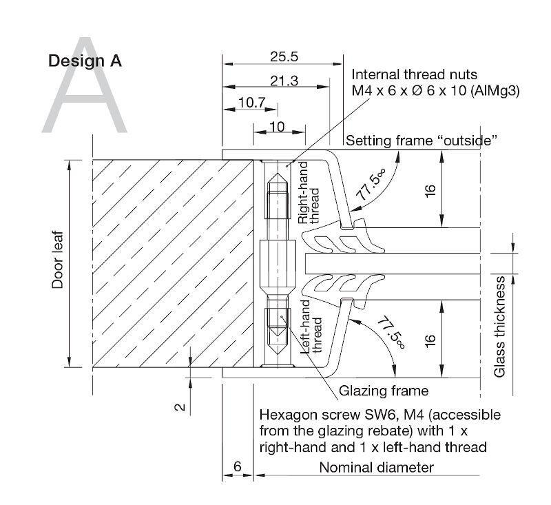 Aluminium Porthole Design A -