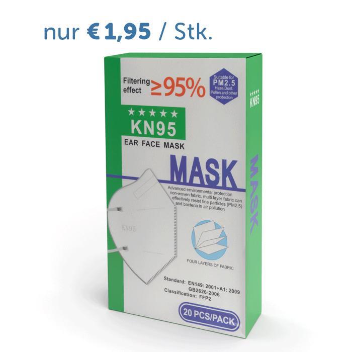 Atemschutzmaske KN95 / FFP2  - 20 Stück