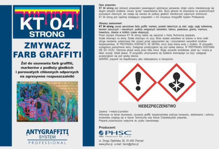KT 04 Strong - Zmywacz farb graffiti -