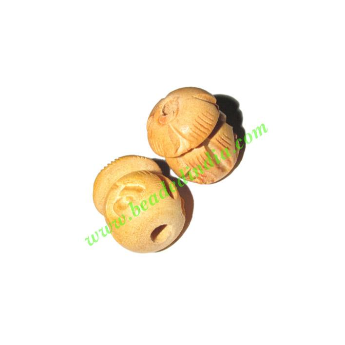 Natural Color Wooden Beads, size 15x19mm, weight approx 1.51 - Natural Color Wooden Beads, size 15x19mm, weight approx 1.51 grams
