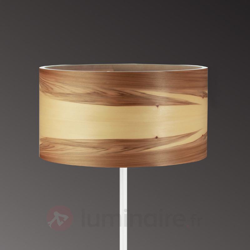 Lampadaire noble Funk en placage noyer - Lampadaires en bois