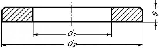 RONDELLE PLATE MOYENNE M DÉCOLLETÉE INOX A1 - NFE 25-514 (216502)