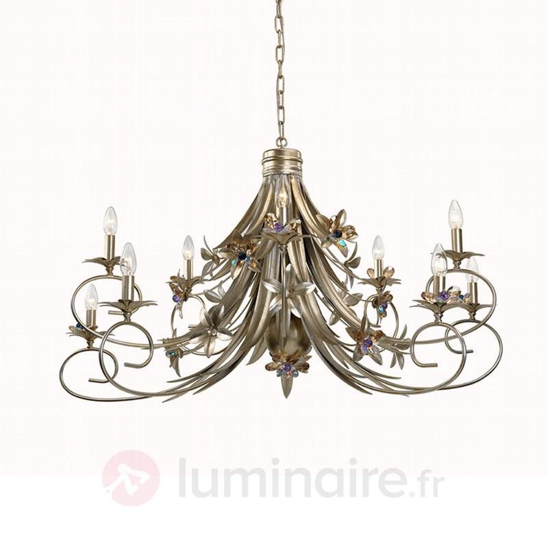 Lustre floral Goldina 120 cm - Lustres style florentin