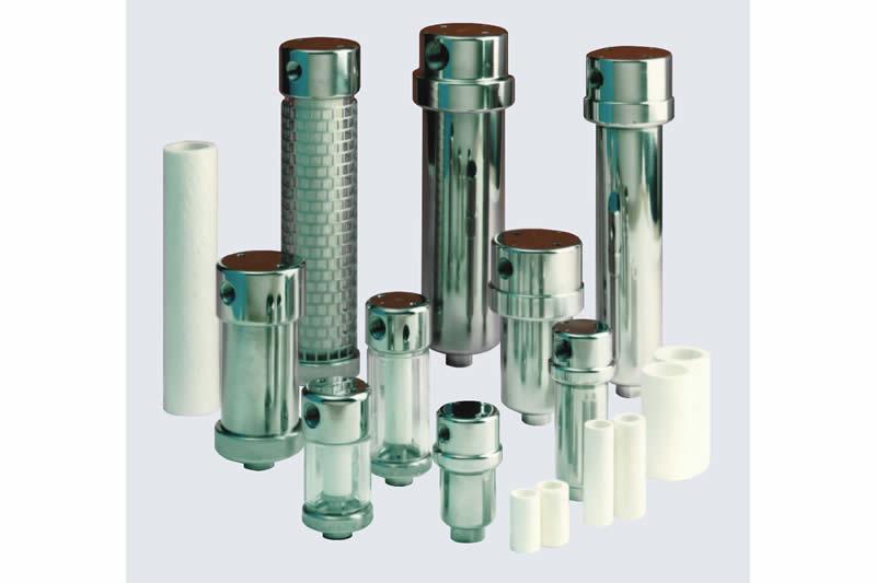 Gasanalysefilter - Partikelfilter, Koaleszenzfilter und Adsorber