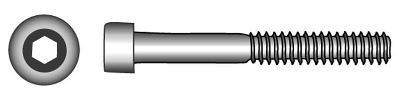 Zylinderschrauben mit Innensechskant, Teilgewinde - Material A2 | A4 | 1.4571 | 1.4462 | 1.4529