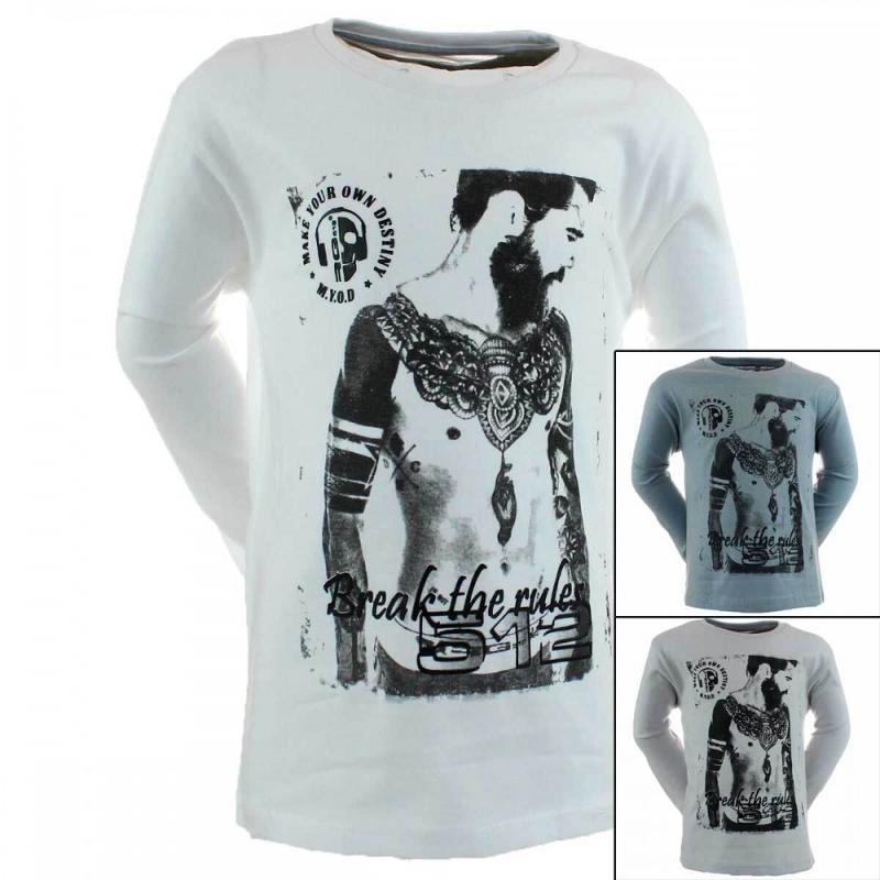 15x T-shirts manches longues RG512 du 6 au 14 ans - T-shirt et polo manches longues