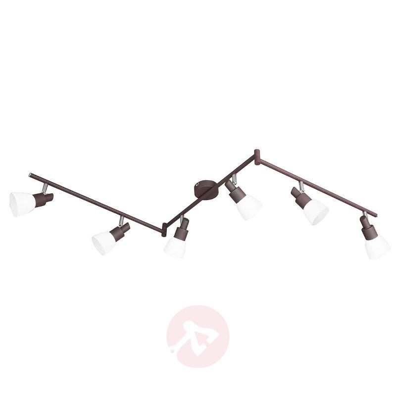 6-bulb Eve LED ceiling light in antique brown - Ceiling Lights