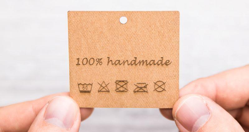 Étiquettes gravées au laser de FloraPap -