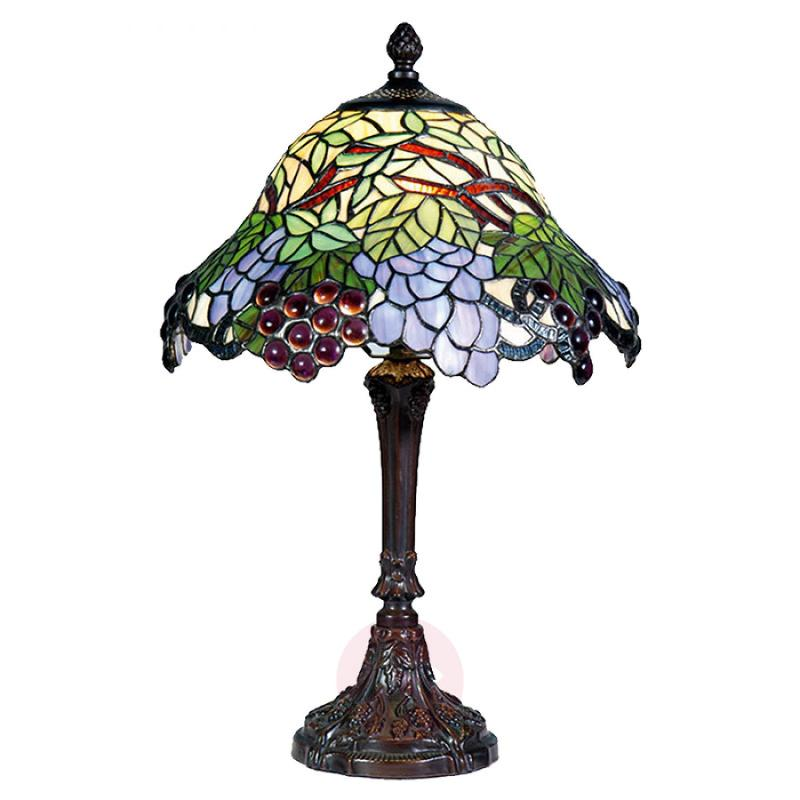 Colourful table lamp Lotta in the Tiffany style - indoor-lighting