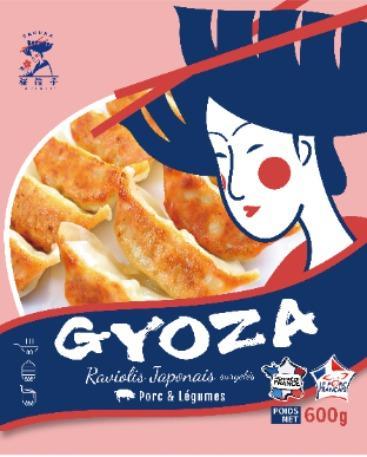 GYOZAS JAPONAIS SURGELES AU PORC - Viande de porc de qualité française
