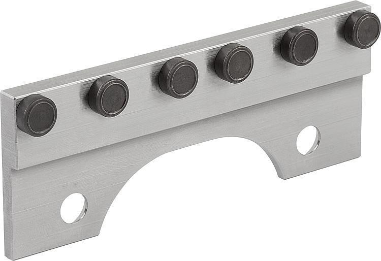 Mâchoire de serrage avec pointes - Etau de bridage 5 axes compact
