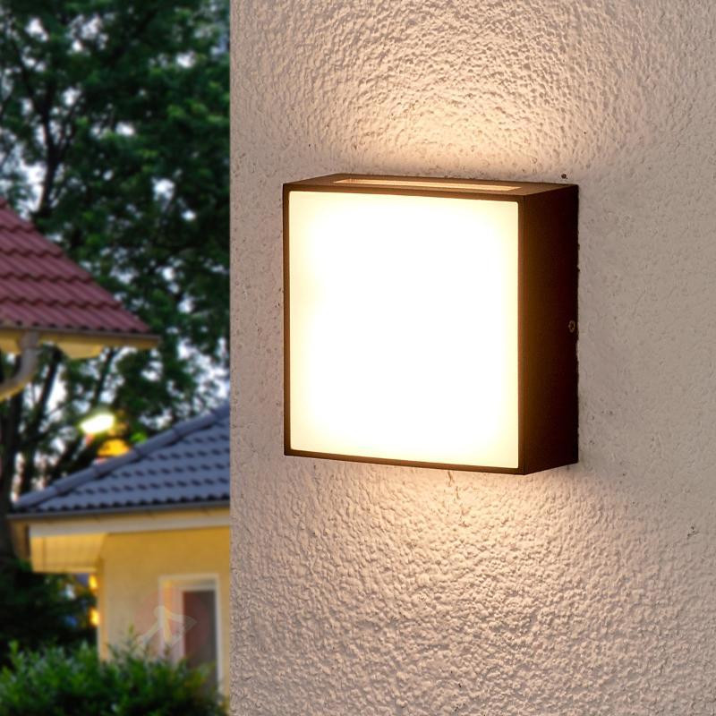 Applique d'extérieur LED carrée Jumana - Appliques d'extérieur LED