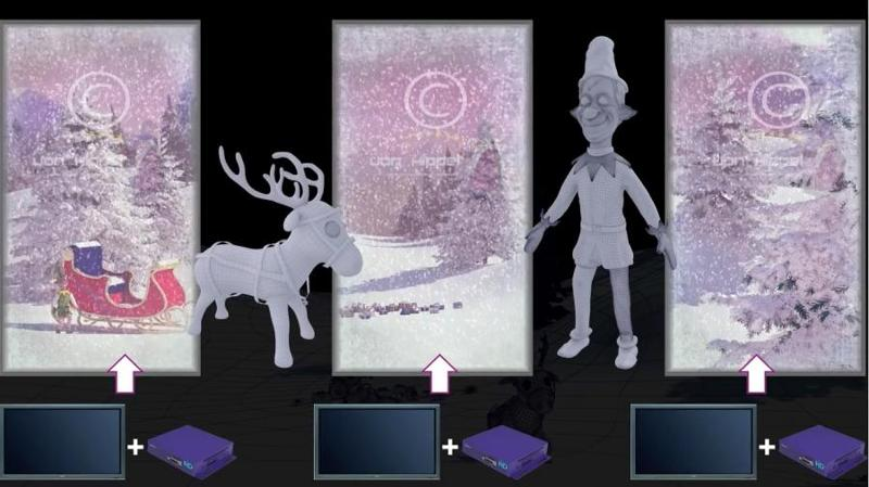 Animation - Movie 3 x SD card - elves in the snow -... - null