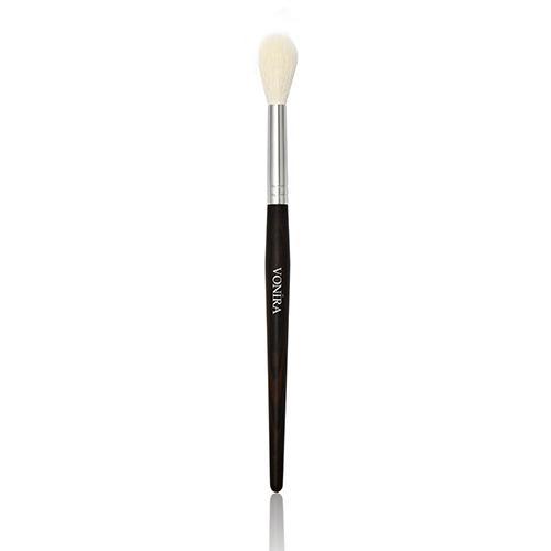 Large Round Pointed Makeup Blending Brush Natural Ebony Hand