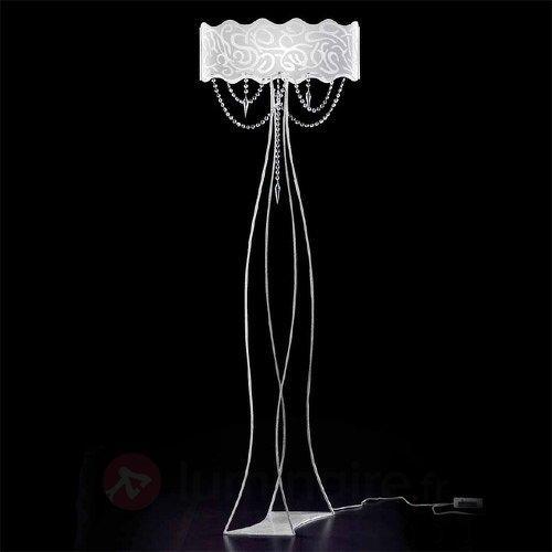 Superbe lampadaire MAREA avec pampilles en cristal - Lampadaires design