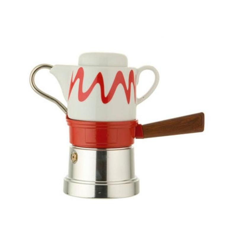 Machine à café italienne TOP MOKA, modèle GOCCIA ROUGE - MACHINES A CAFÉ TOP MOKA