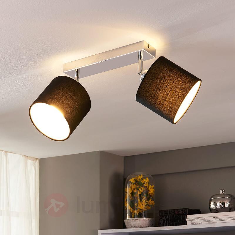 beau plafonnier textile avec ampoules LED E14 - Plafonniers en tissu