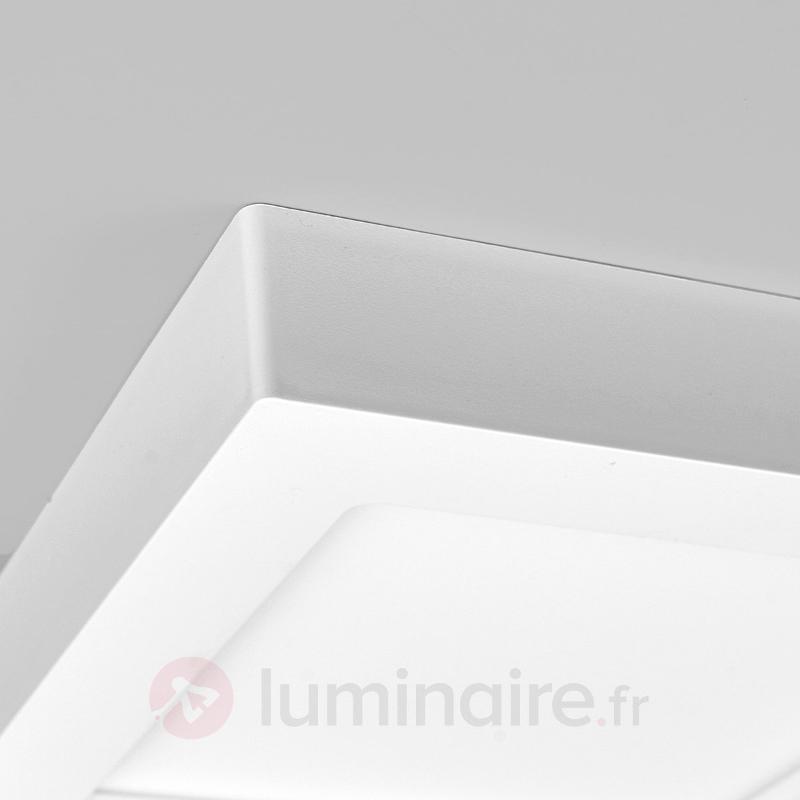 Plafonnier LED blanc Rayan, carré, salle de bains - Tous les plafonniers