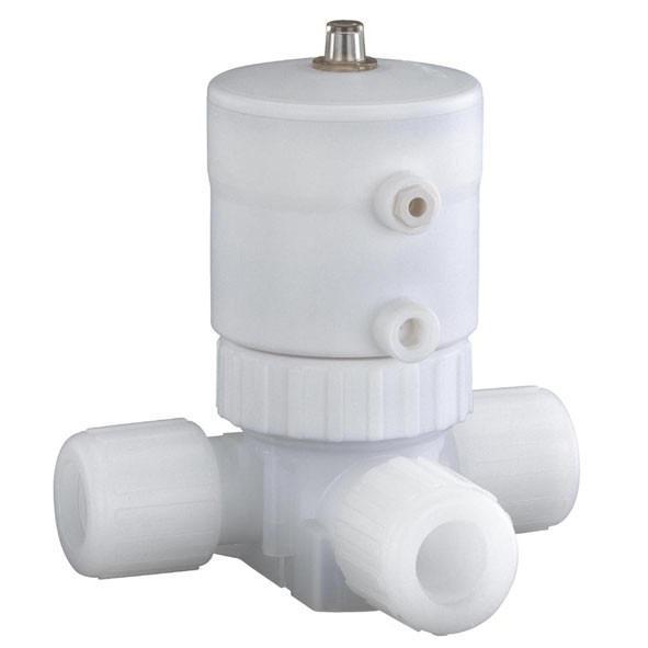 盖米C60 - 盖米C60气动两位两通超纯隔膜阀具有全PFA-HP阀体。所有与介质接触部分均由PFA-HP或PTFE制成。执行器外部由PVDF制成。