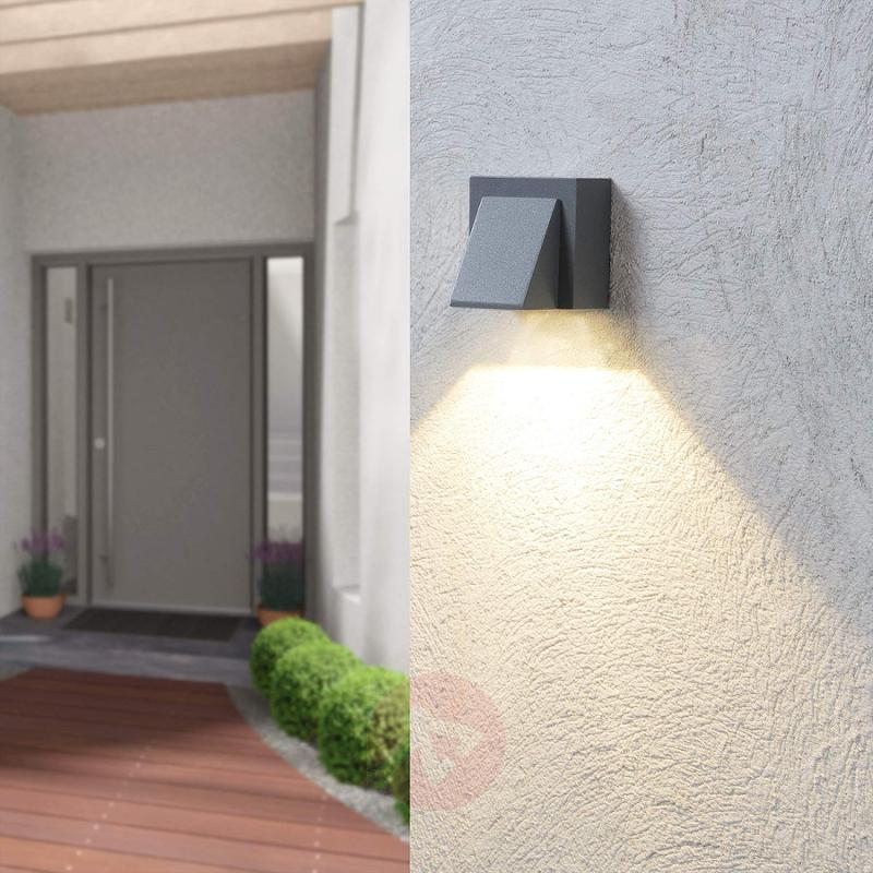 Silver grey LED outdoor wall light Marik - outdoor-led-lights