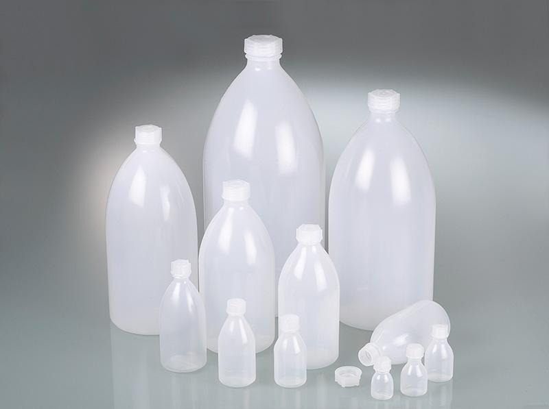 Enghalsflaschen, rund - Kunststoffflasche, LDPE, mit Schraubverschluss