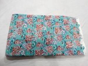 Floral Block Print Fabric -