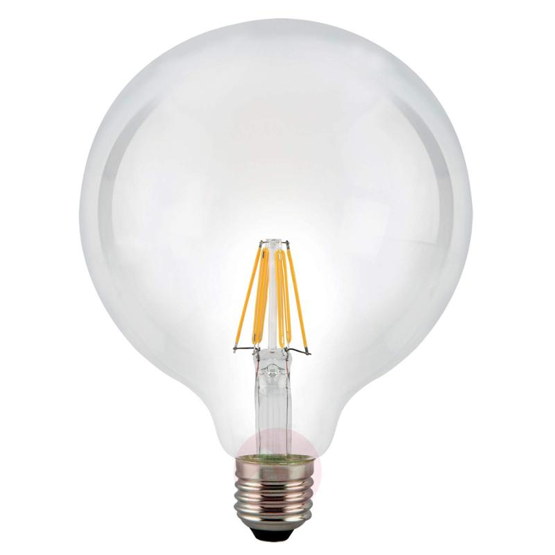 E27 7.5 W 827 LED globe bulb, clear - light-bulbs